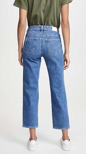PAIGE Noella Straight Jeans With Caballo Inseam