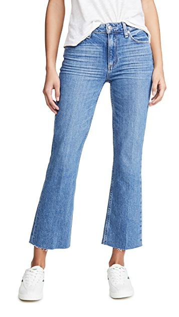 PAIGE Vintage Colette Jeans With Caballo Inseam and Raw Hem
