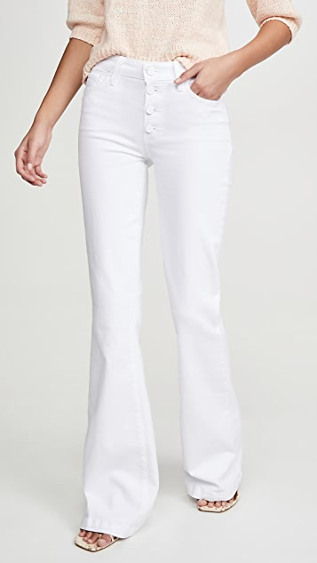 PAIGE Genevieve Jeans with Exposed Button Fly