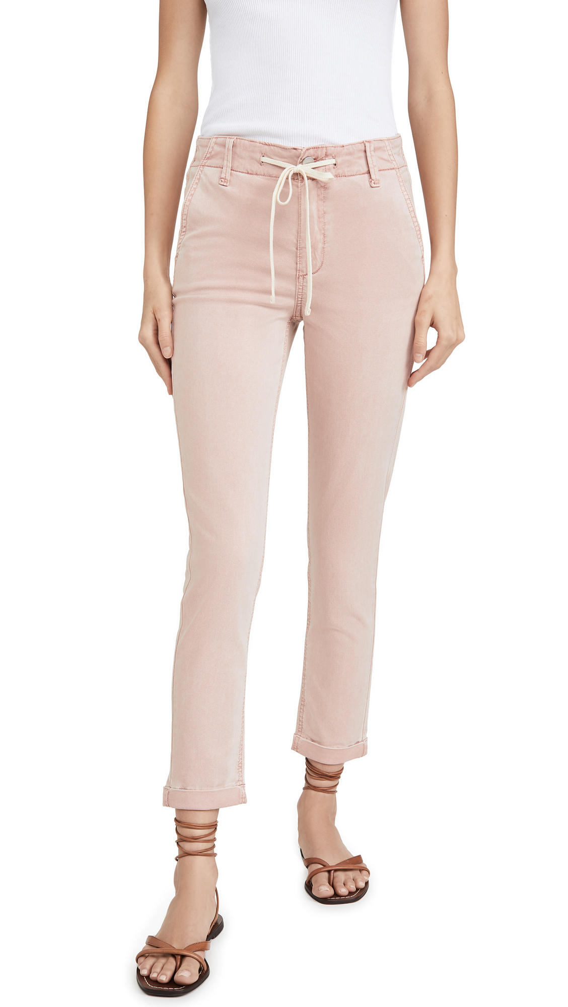 PAIGE Drawstring Pants with Cuff