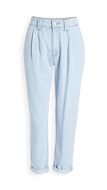 PAIGE 裥褶牛仔裤