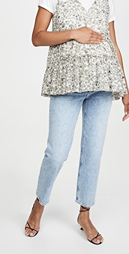 PAIGE - Noella Straight Maternity Jeans
