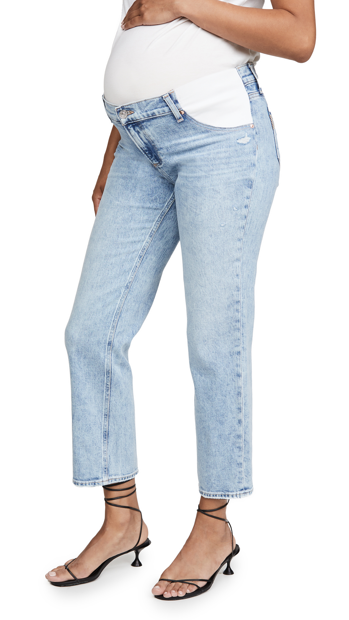 PAIGE Noella Straight Maternity Jeans