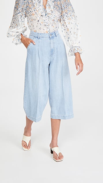 PAIGE Clarice Pleated Culottes
