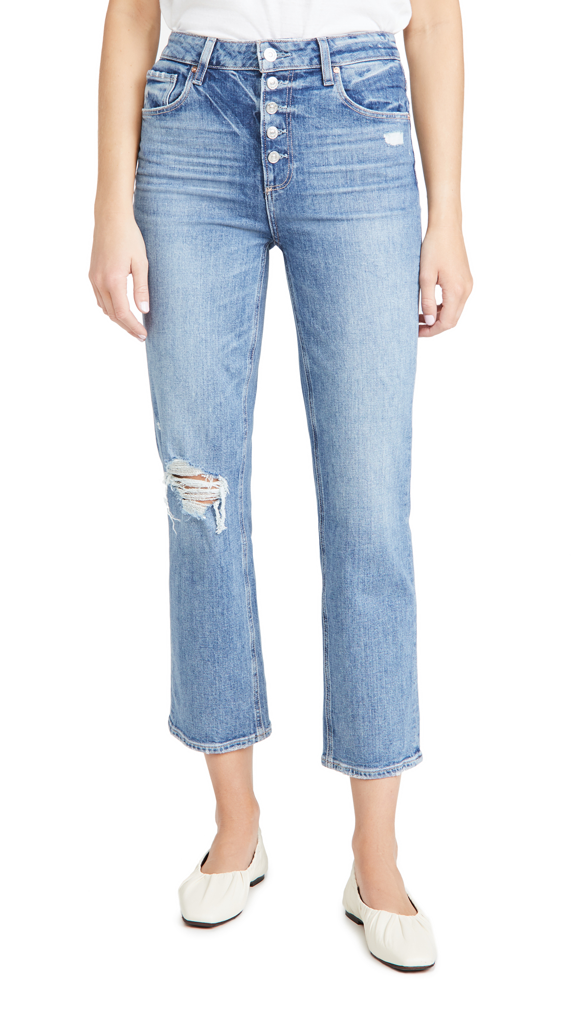 PAIGE Sarah Straight Ankle Jeans
