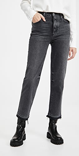 PAIGE - Sarah Straight Ankle with Covered Button Fly Jeans