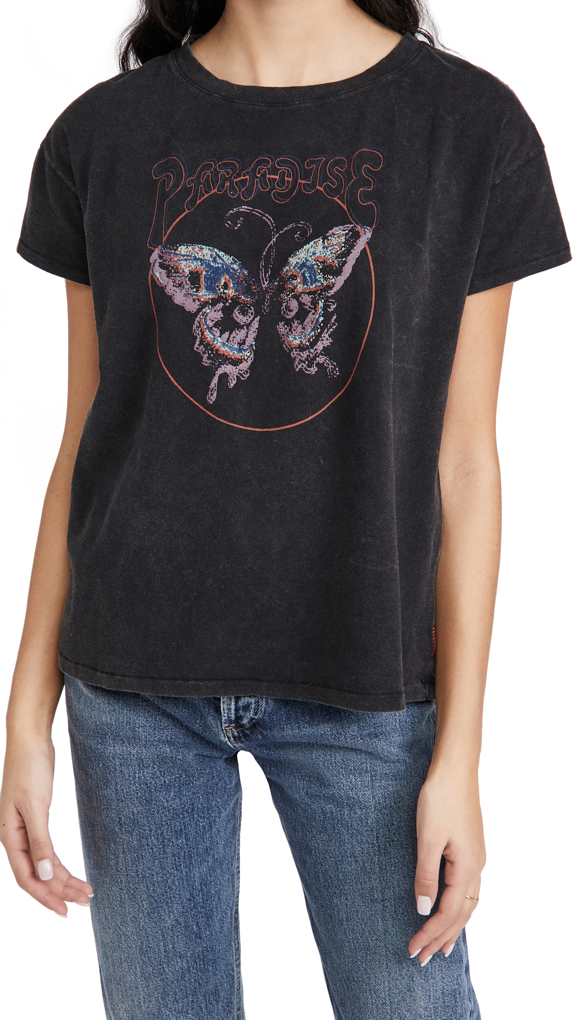 PAIGE Ryo Tee Butterfly Graphic