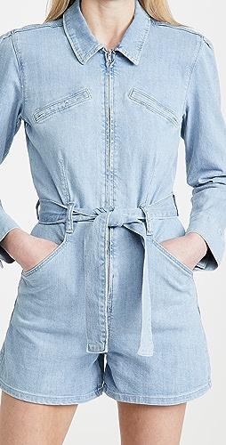 PAIGE - Jemma 泡泡袖拉链短款连身衣