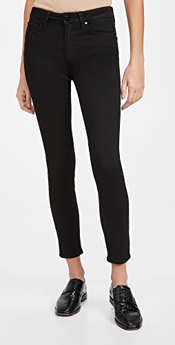 PAIGE - High Rise Muse Black Shadow Jeans