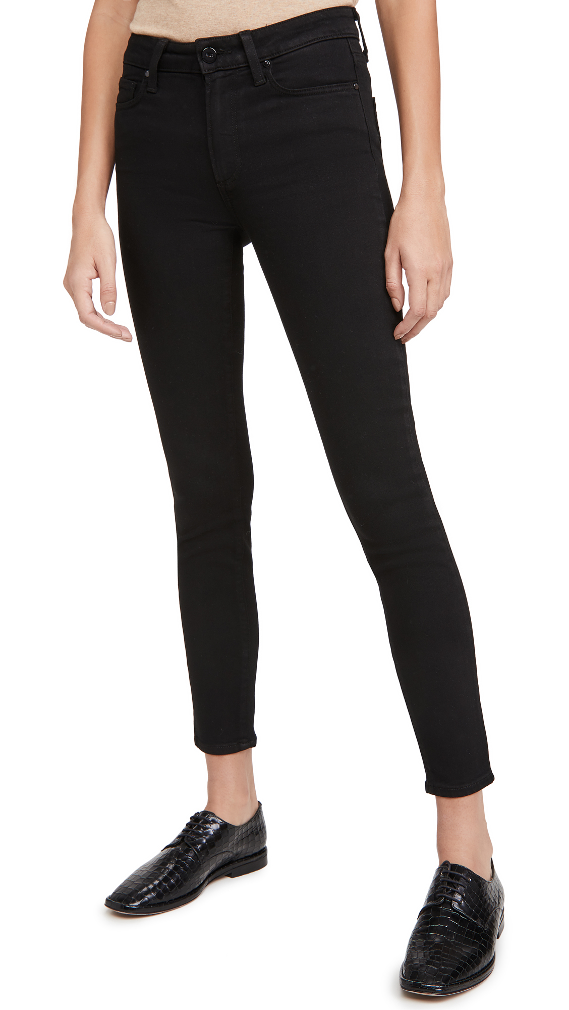 PAIGE High Rise Muse Black Shadow Jeans