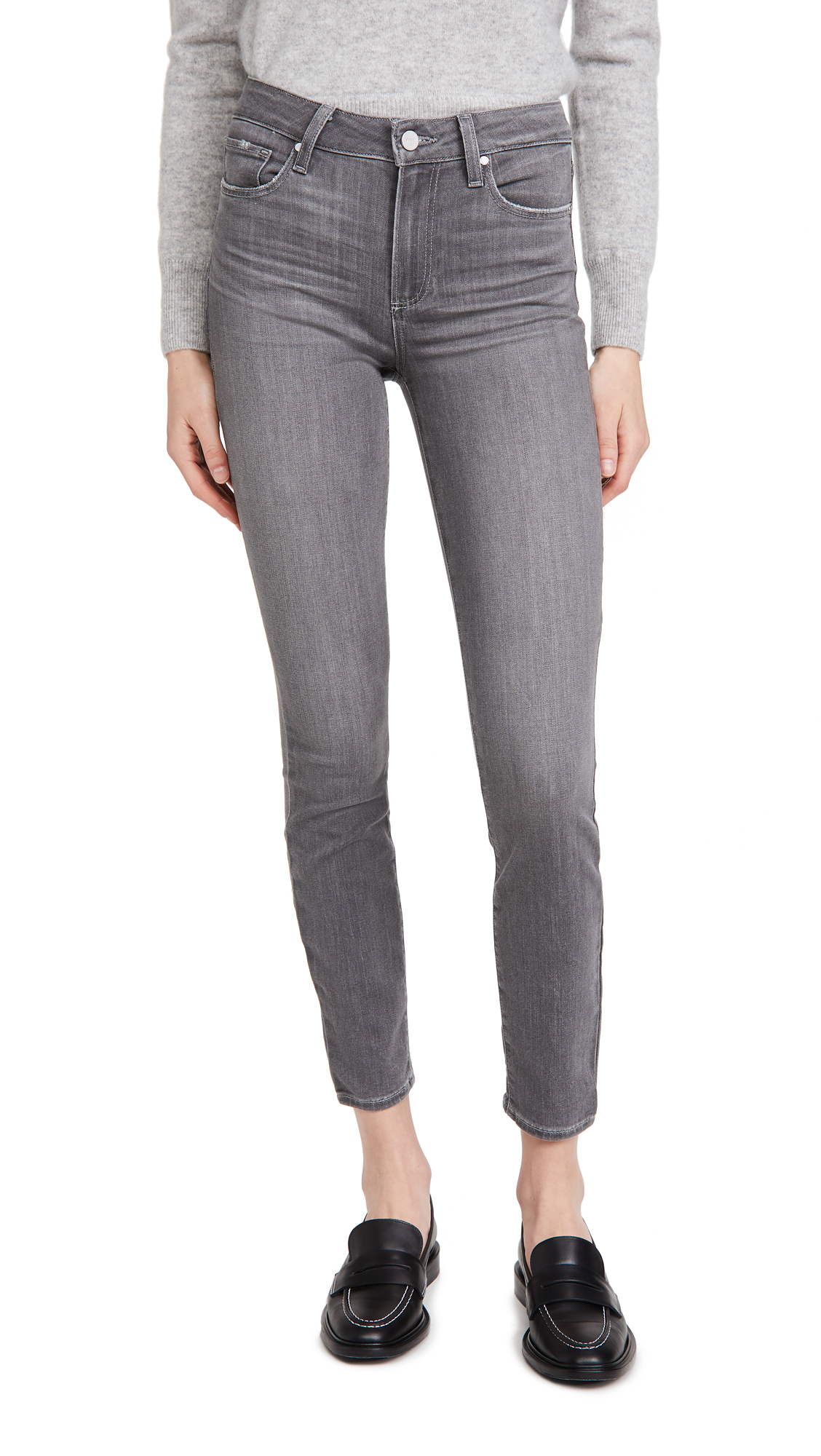 PAIGE Hoxton Ankle Jeans in Stone Dust