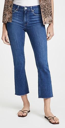 PAIGE - Colette 毛边裤脚中长喇叭牛仔裤