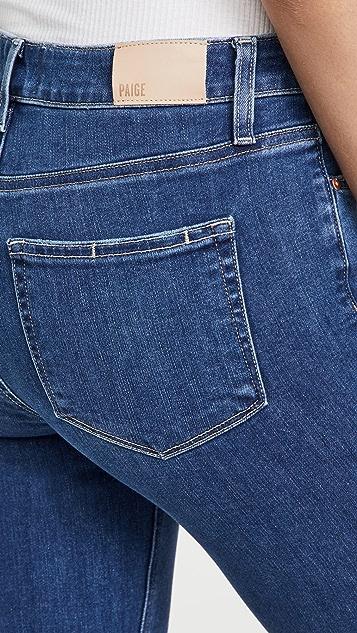 PAIGE Colette 毛边裤脚中长喇叭牛仔裤
