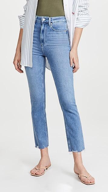 PAIGE Cindy 超高腰做旧牛仔裤