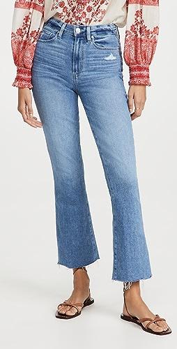PAIGE - Flaunt Denim Femme Jeans with Freehand Hem
