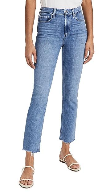PAIGE Cindy Jeans with Raw Hem