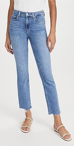 PAIGE - Cindy Jeans with Raw Hem
