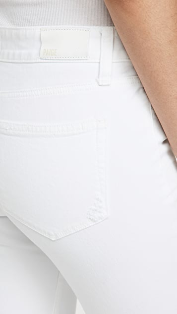 PAIGE Brigitte Jeans with Raw Cuff & Coin Pocket