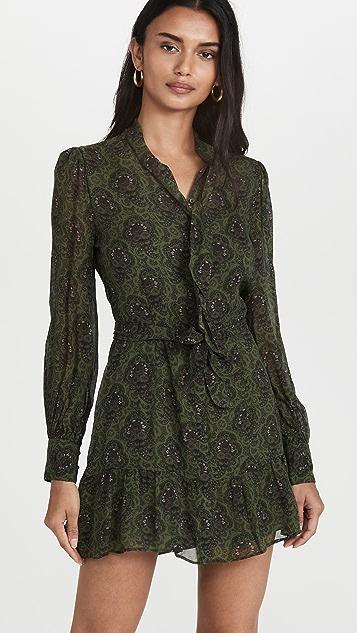 PAIGE Vittoria Army Green Multi Dress