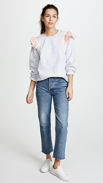 Paradised Ruffle Sweatshirt
