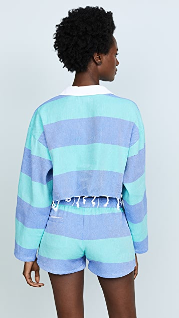 Paradised Cropped Rugby Tee