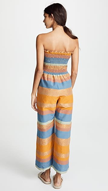 A Peace Treaty Tomar Ruched Jumpsuit