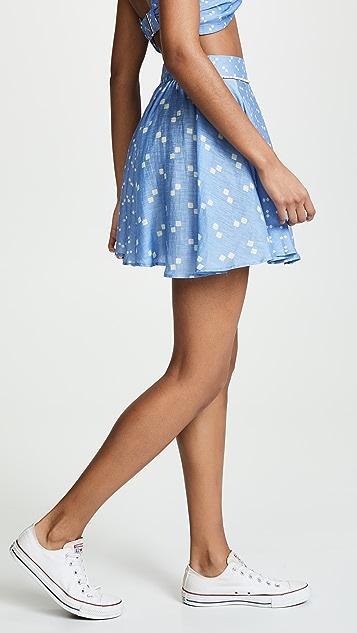 A Peace Treaty Tiza Blue Skirt