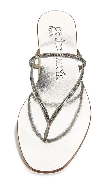 Pedro Garcia Enara Crystal Thong Sandals
