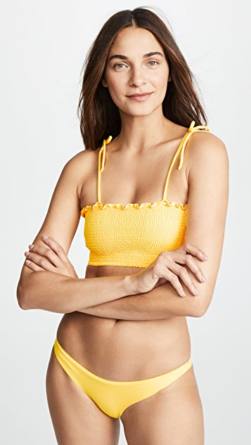 Peixoto Smocked Bikini Top