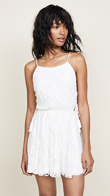Peixoto Lace Dress with Tassels