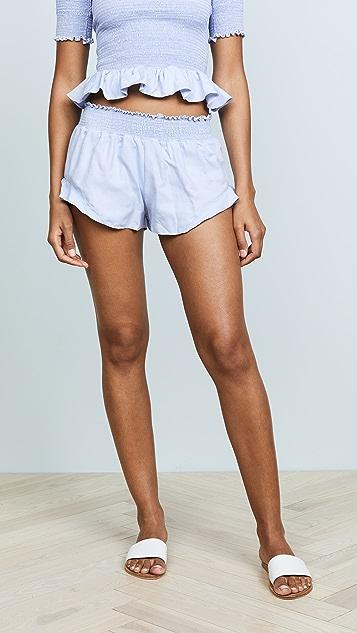 Peixoto Ruffled Smock Shorts