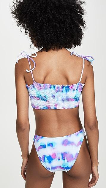 Peixoto Cleo Tie Dye Bikini Top