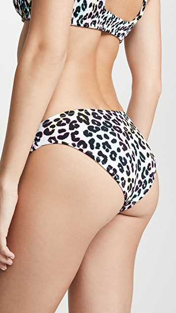 Peixoto Cayo Smocked Full Bikini Bottoms