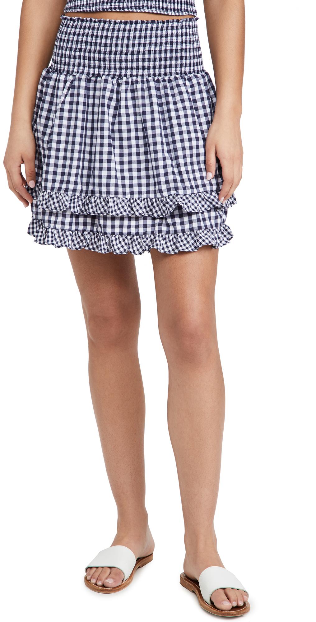 Peixoto Gingham Belle Skirt