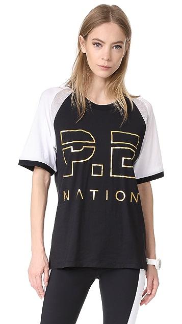 P.E NATION One Time Raglan Tee