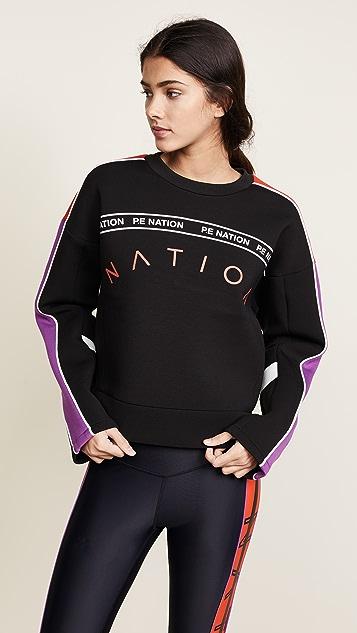P.E NATION The Cross Bar Sweatshirt - Black