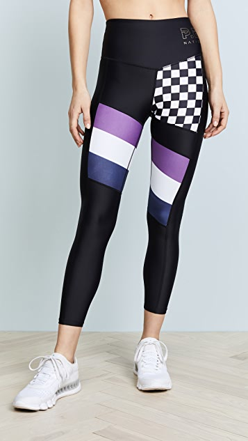 P.E NATION The Check Hook Leggings - Print