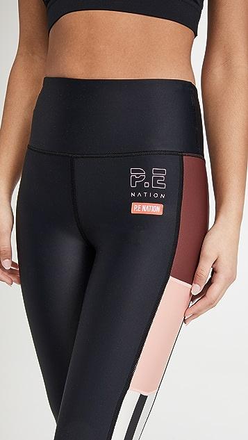 P.E NATION Bar Down 贴腿裤