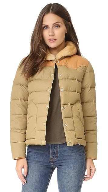 Penfield Rockwool Leather Yoke Down Jacket