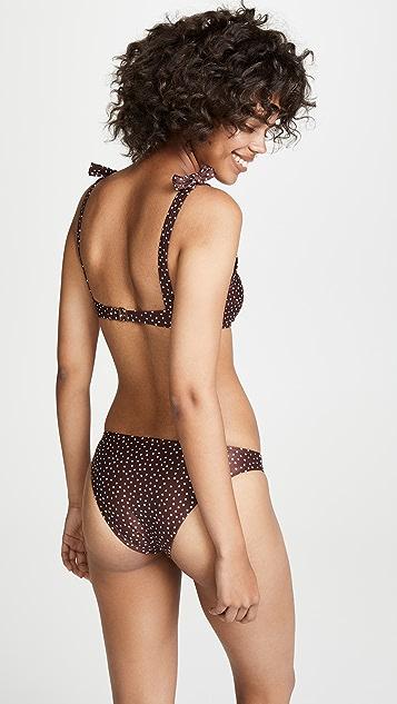 Peony Swimwear Knotted Bikini Top