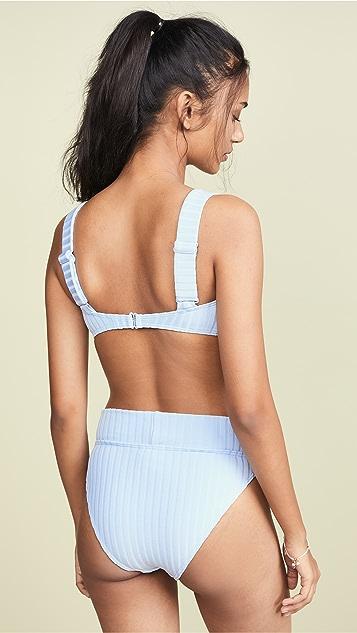 Peony Swimwear Panelled Bikini Top