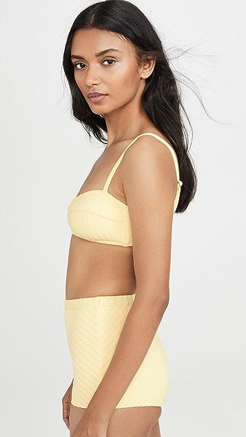 Peony Swimwear Banana Bikini Top