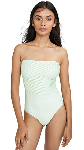 Peony Swimwear Strapless One Piece
