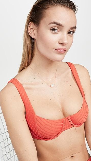 Peony Swimwear Tangerine Balconette Bikini Top