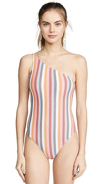 Peony Swimwear Rainbow One Piece Swimsuit