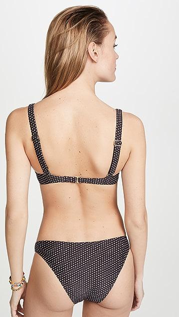 Пляжная одежда Peony Лиф бикини в горошек