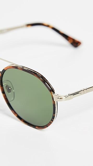 Persol Round Aviator Sunglasses