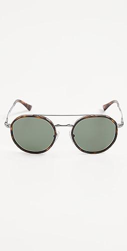 Persol - Round Aviator Sunglasses
