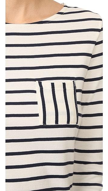 Petit Bateau 1X1 Iconic Striped Pocket Tee