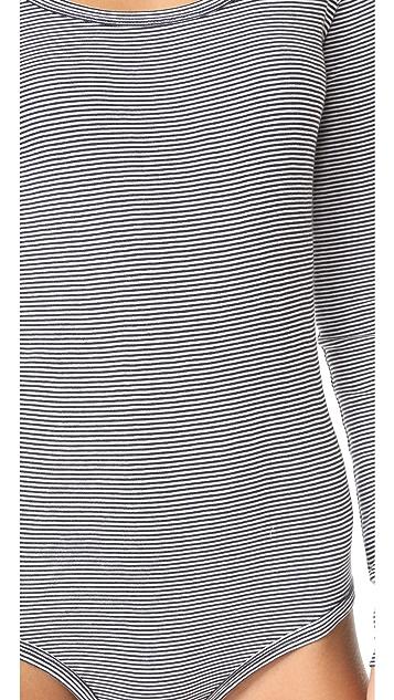 Petit Bateau 1x1 Striped Bodysuit